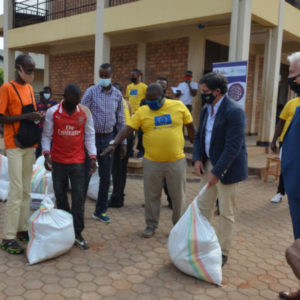 Distribution of food and hygiene materials to Vulnerable populations during COVID-19